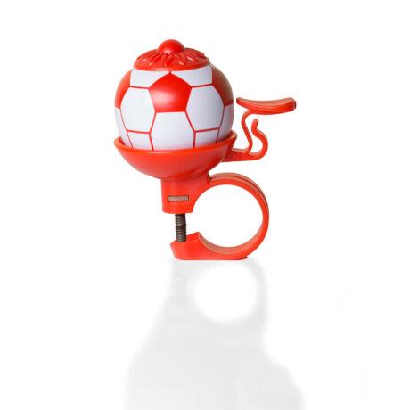 Piros focilabda futóbicikli csengő