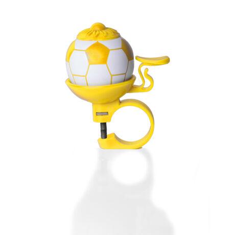 Citromsárga focilabda futóbicikli csengő