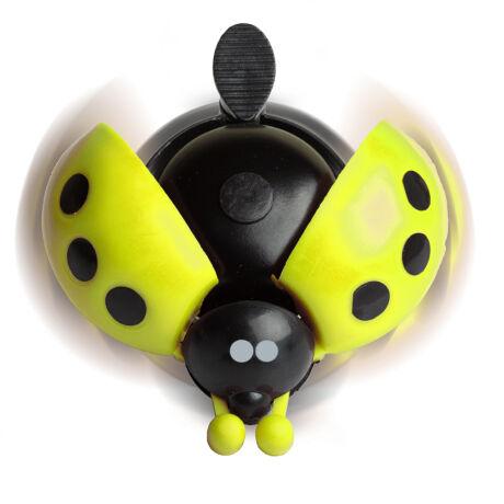 Citromsárga katicás futóbicikli csengő
